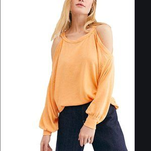 Free People Chill Out Cold Shoulder Top M